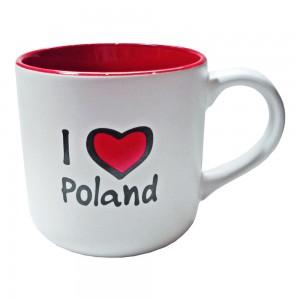 KR biało-czerwony I love Poland prostokąt