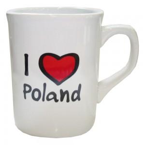 KN biały I love Poland kwadrat